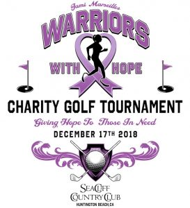Warriors With Hope - Golf Tournament Dec 17, 2018